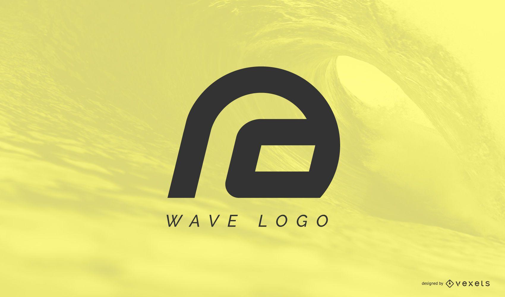 Modelo de logotipo abstrato da onda