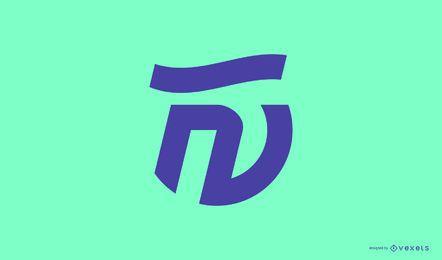 Modelo abstrato de logotipo
