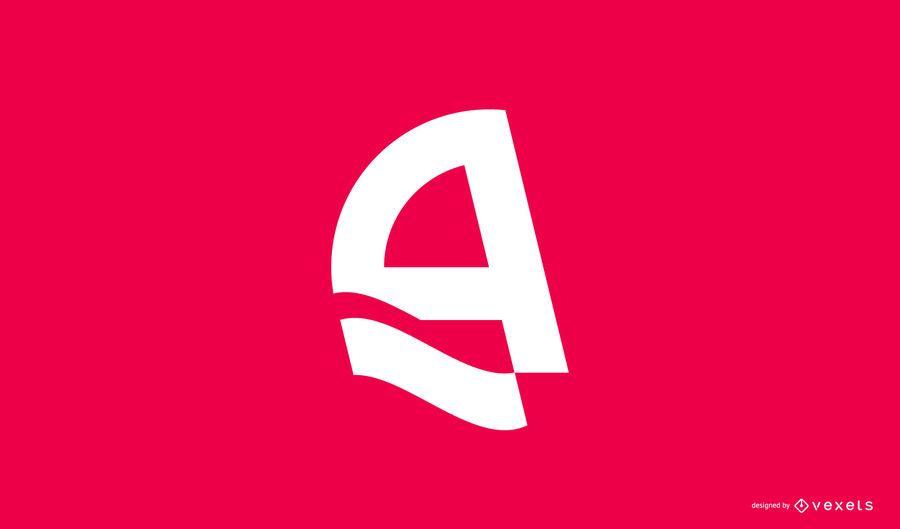 Design de modelo de logotipo abstrato