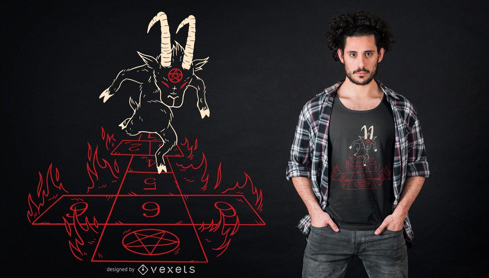 Devil Hopscotch T-shirt Design