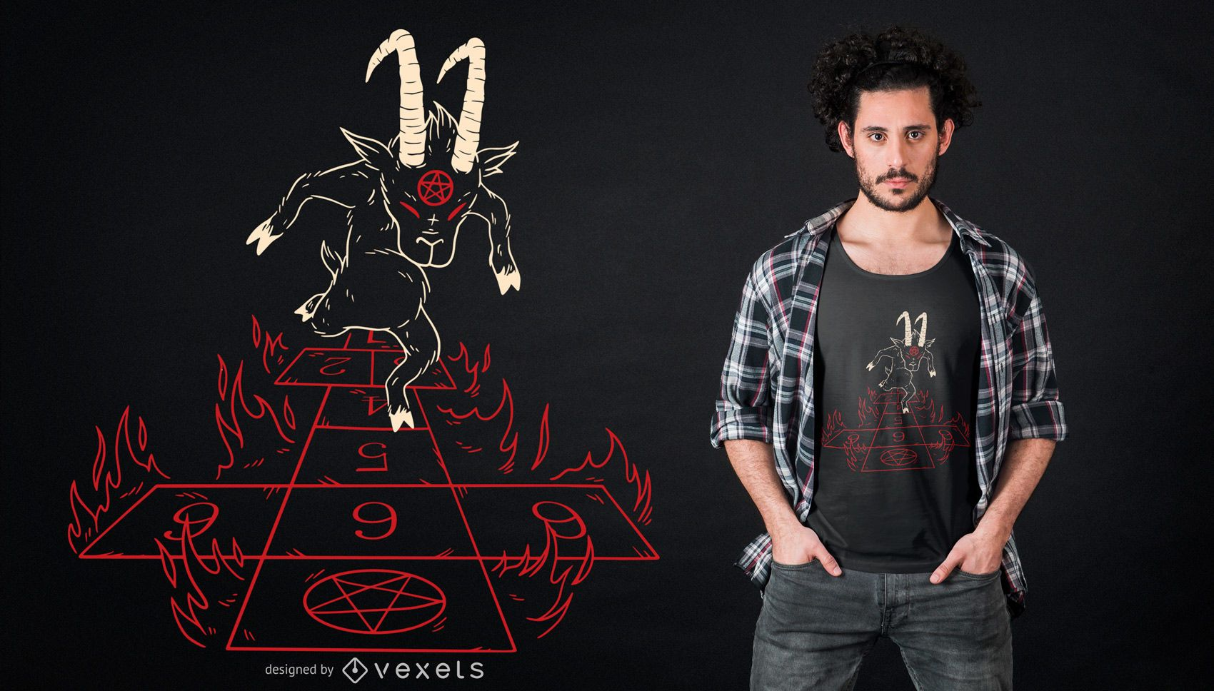 Diseño de camiseta Devil Rayuela