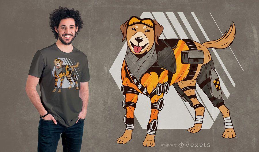Cyborg Dog T-shirt Design