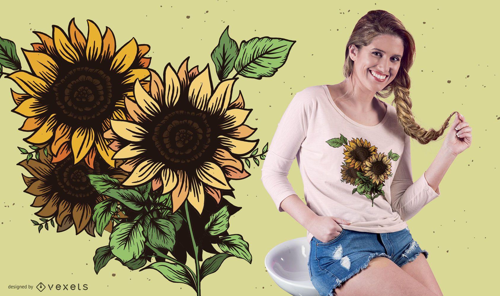 Sunflowers t-shirt design