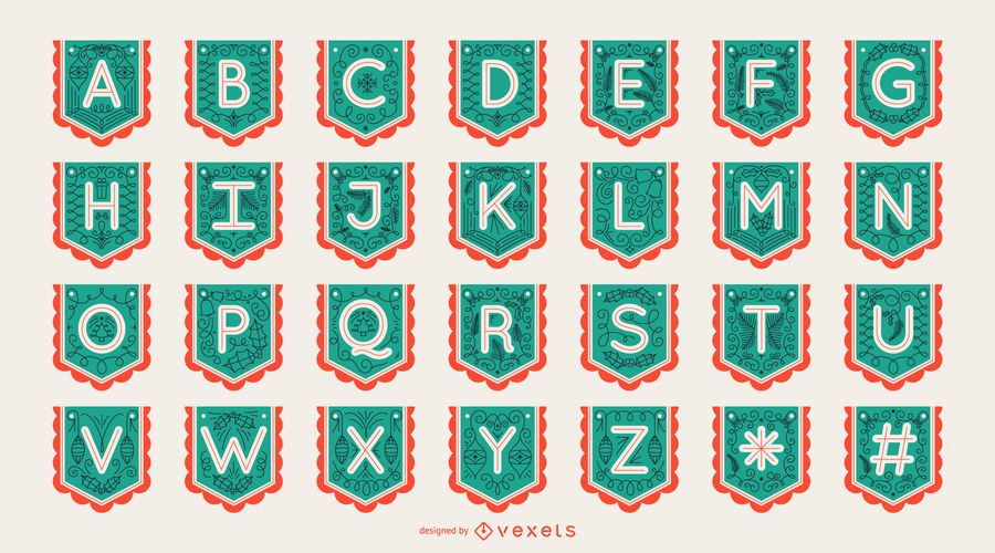 Garland Banner Letter Alphabet Set
