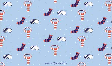 Design de padrão de elementos de inverno
