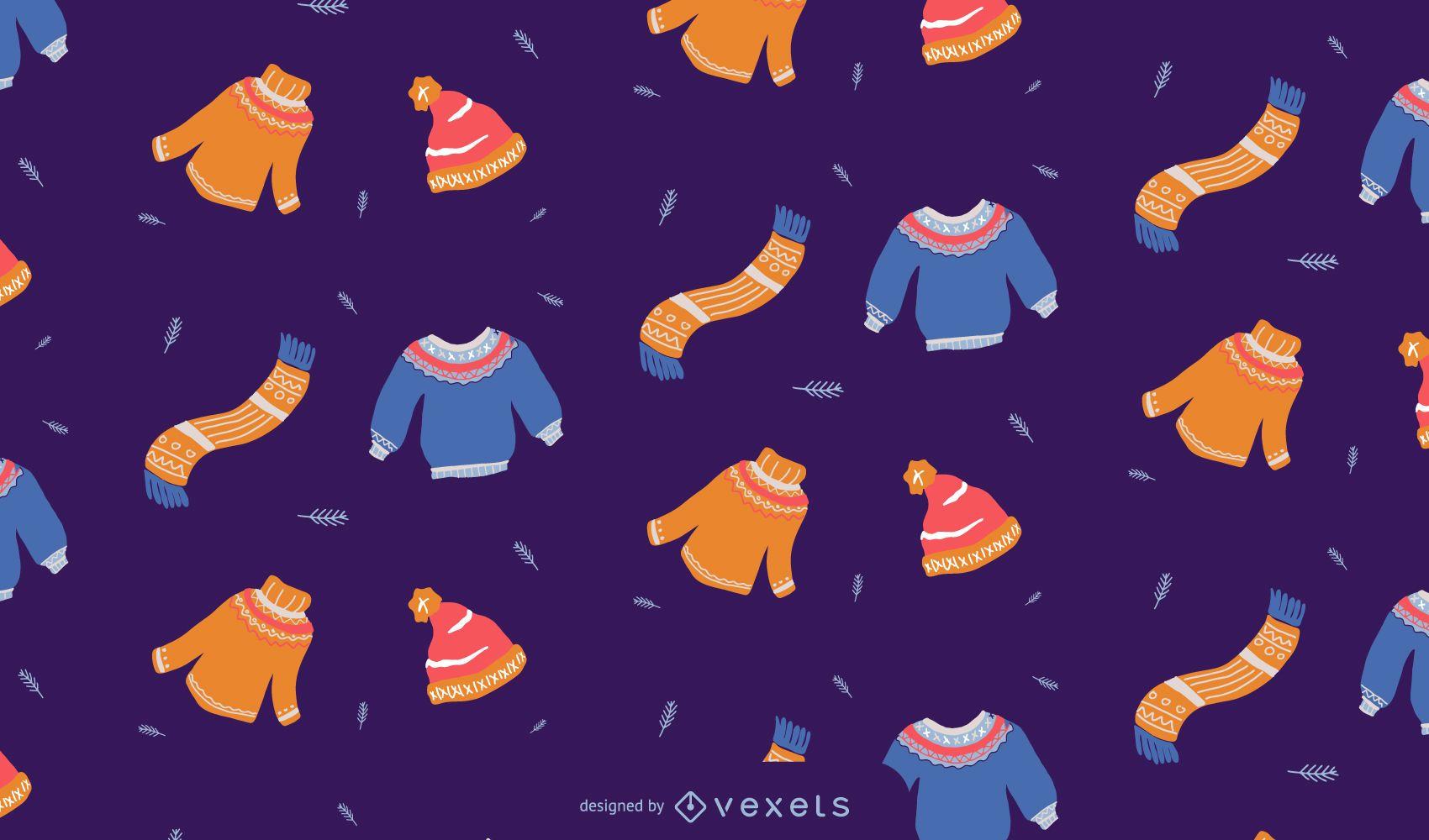 Winter clothes pattern design