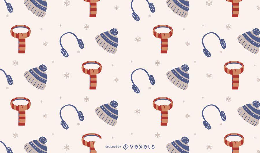 Design de padrão de temporada de inverno