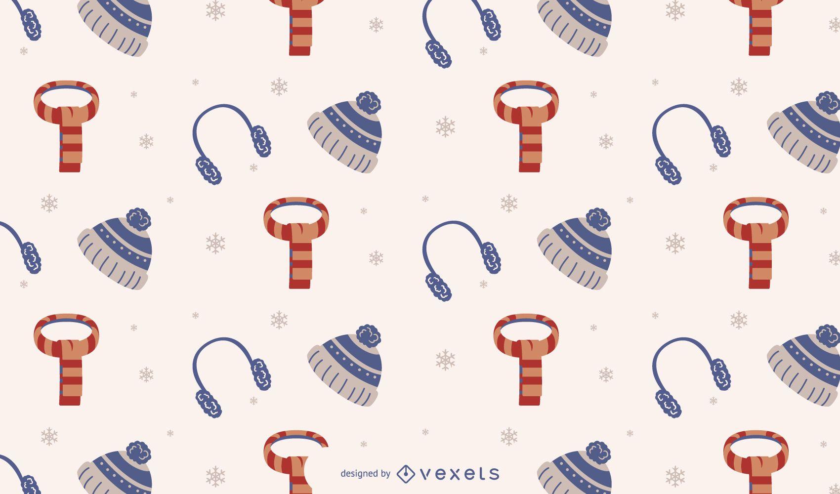 Diseño de patrón de temporada de invierno