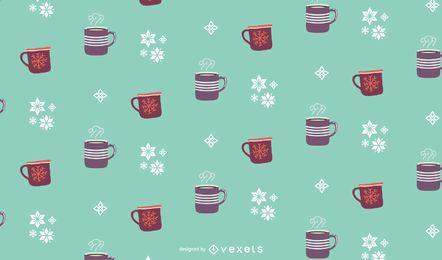 Design de padrão de bebidas de inverno
