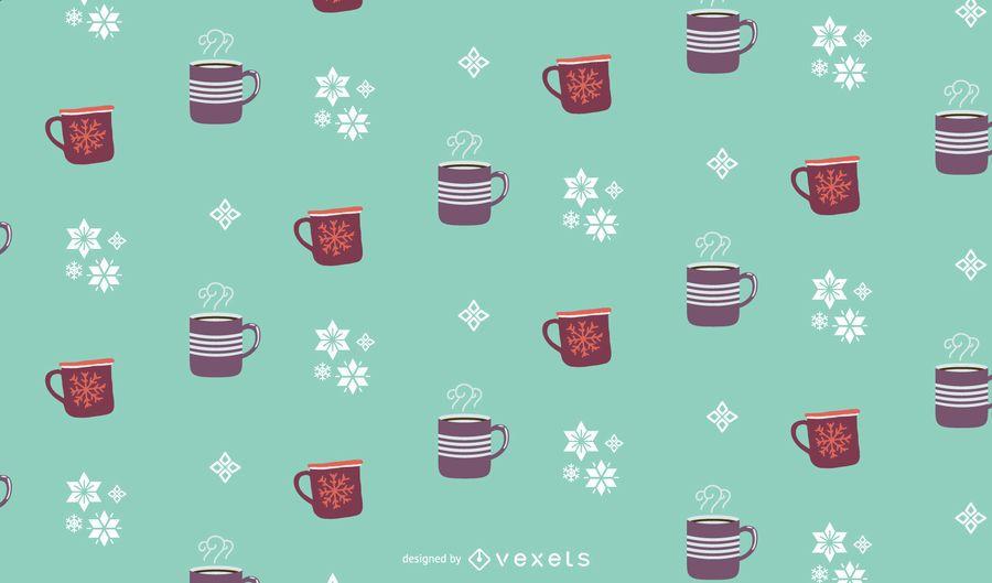 Winter drinks pattern design