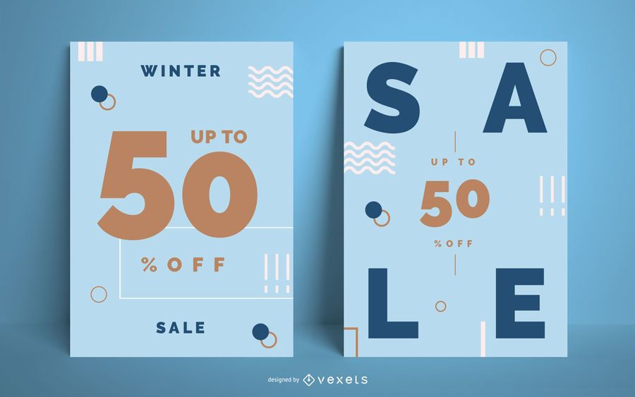 Winterschlussverkauf Poster Set