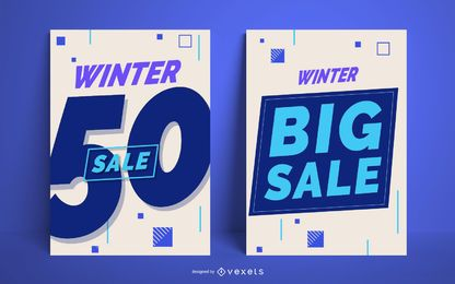 Winter big sale poster set
