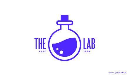 Design de logotipo de laboratório de química