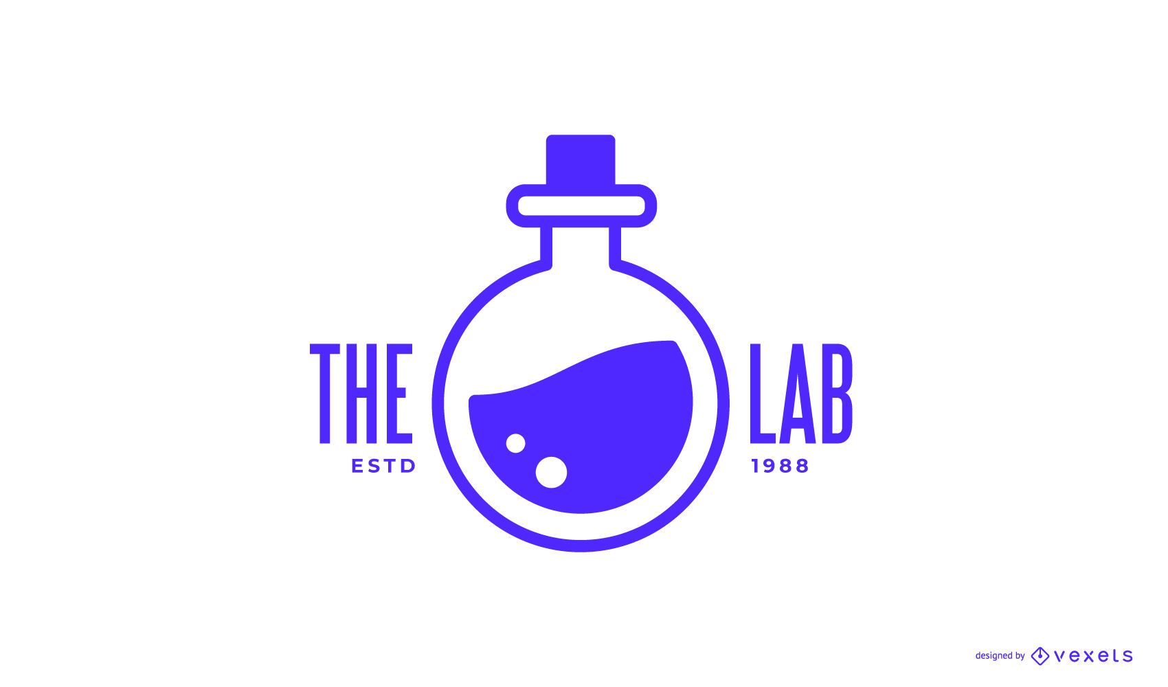 Design de logotipo do laboratório de química