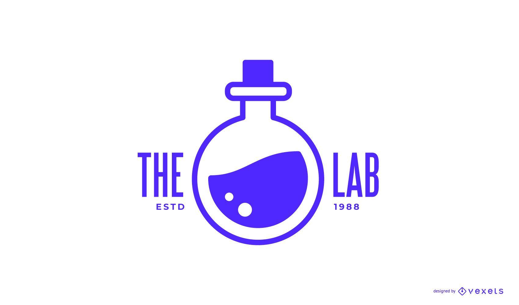 Diseño de logo de laboratorio de química