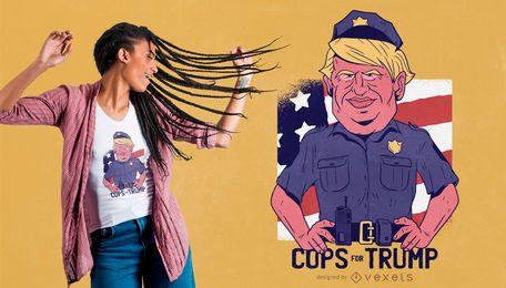 Policiais para design de t-shirt trunfo