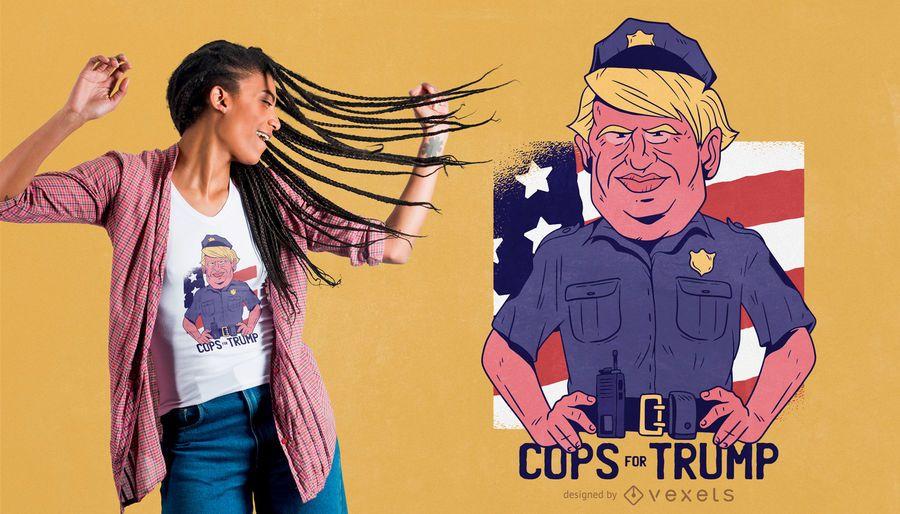 Polis para el diseño de la camiseta de trump