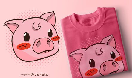 Cute pig t-shirt design