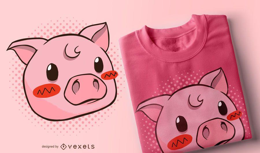 Cute pig t-shirt design