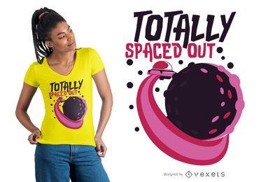 Diseño de camiseta totalmente espaciado