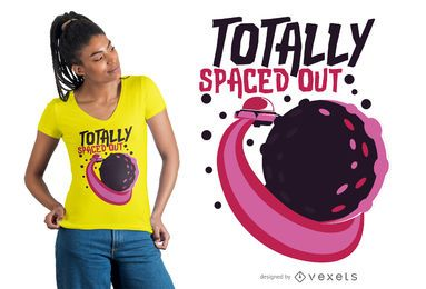 Totally spaced out t-shirt design