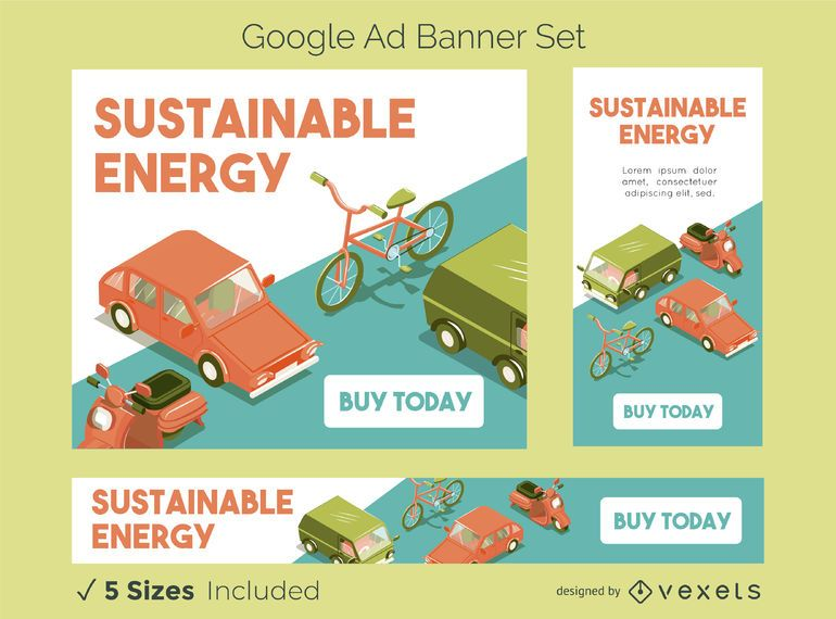 Sustainable Energy Google Ads Banner Set
