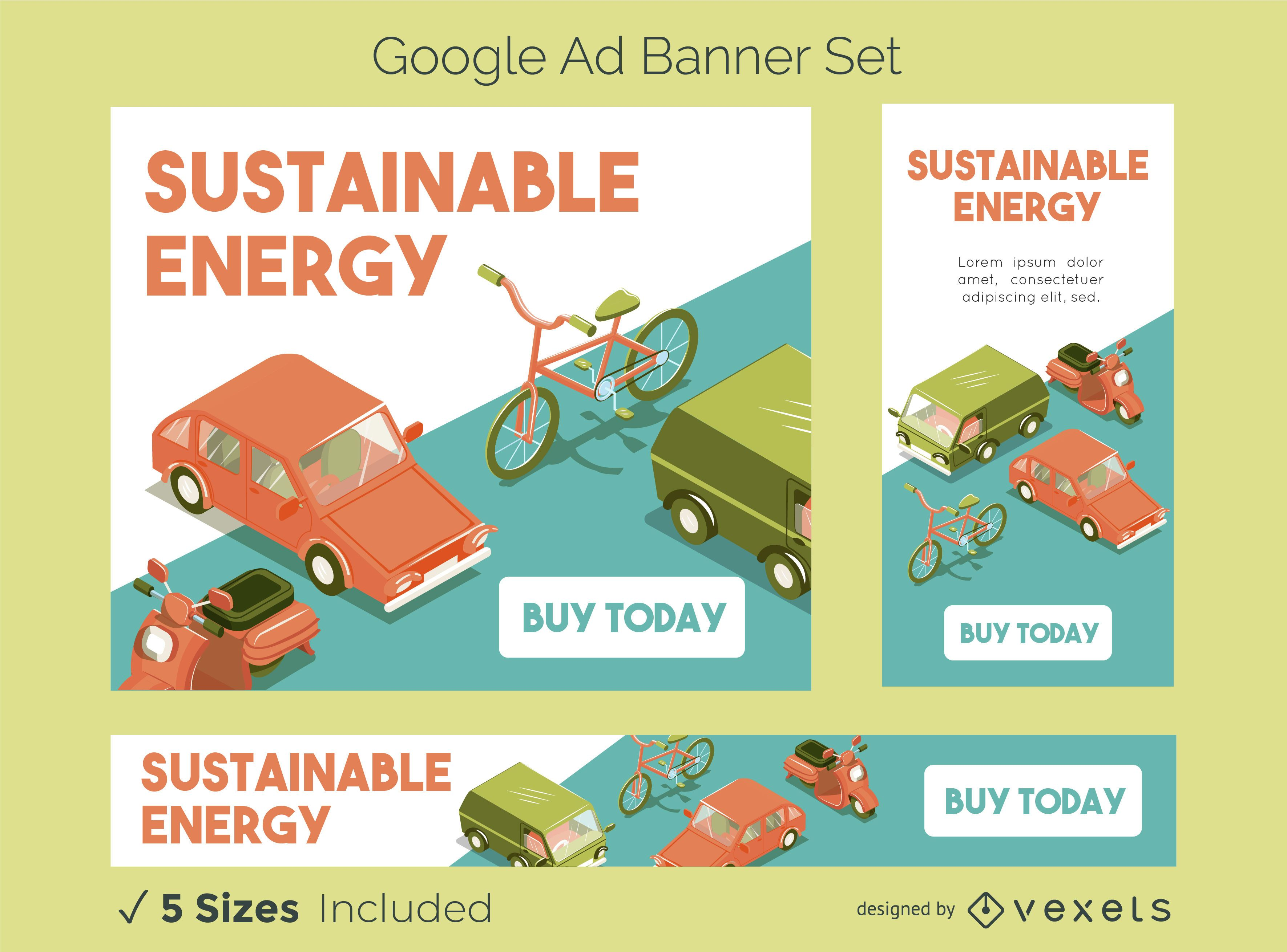 Sustainable Energy Google Ads Banner Set