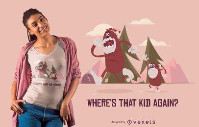 Diseño divertido de camiseta Bigfoot Mom