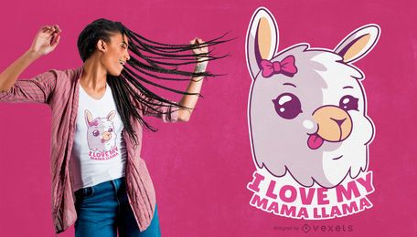 Mama Llama Quote T-shirt Design