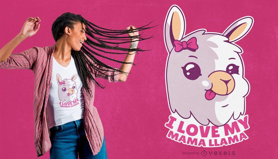 Design do t-shirt do Mama Llama Citação