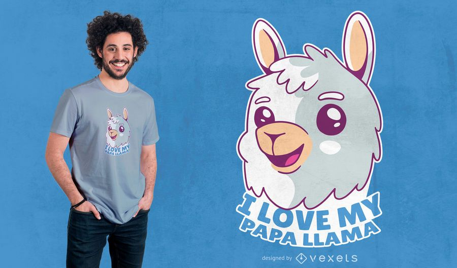 Baby Llama Quote T-shirt Design