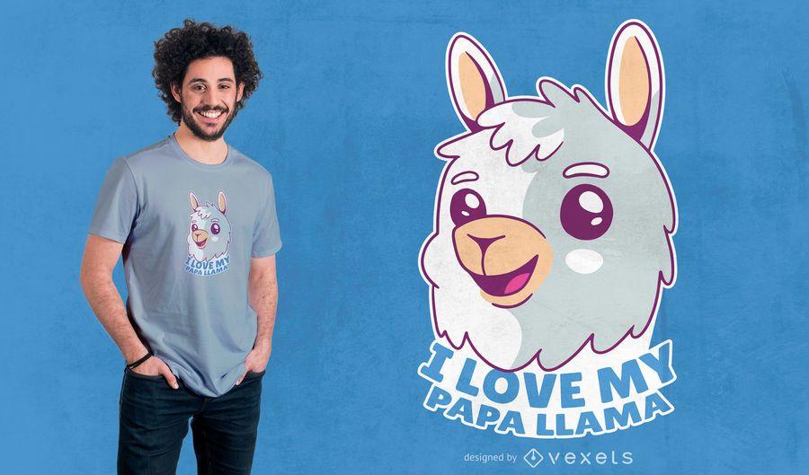 Diseño de camiseta Baby Llama Quote