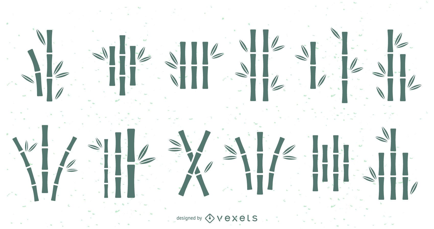 Bamboo silhouettes set