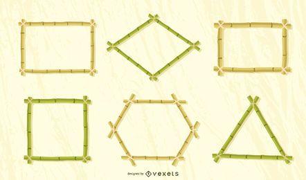 Conjunto de vetores de quadros de bambu