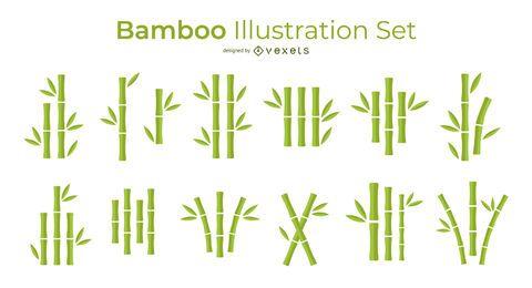 Conjunto de vetores simples de bambu
