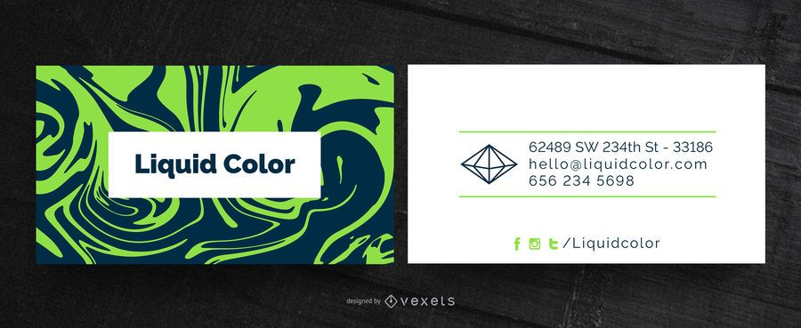 Liquid abstract business card