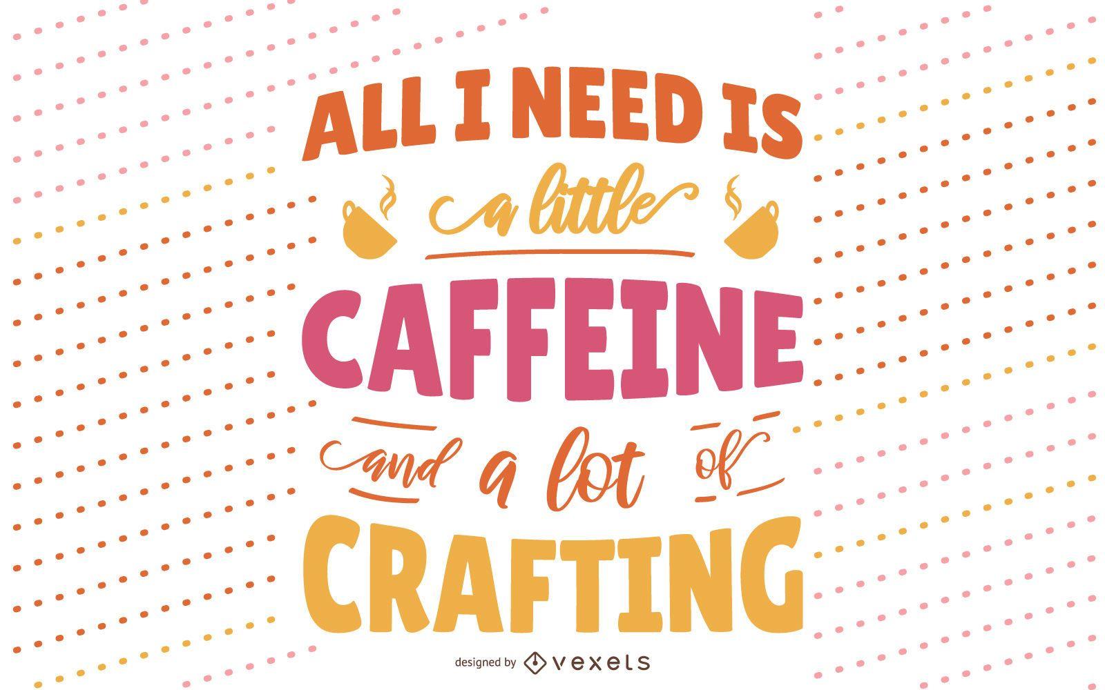 Diseño de letras artesanales y de café.
