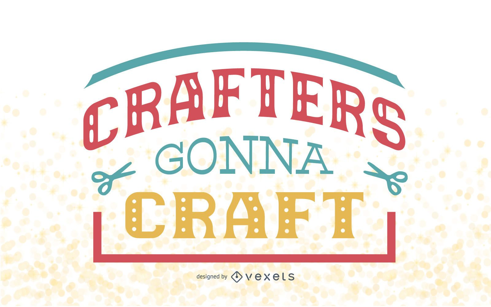 Crafters lettering design