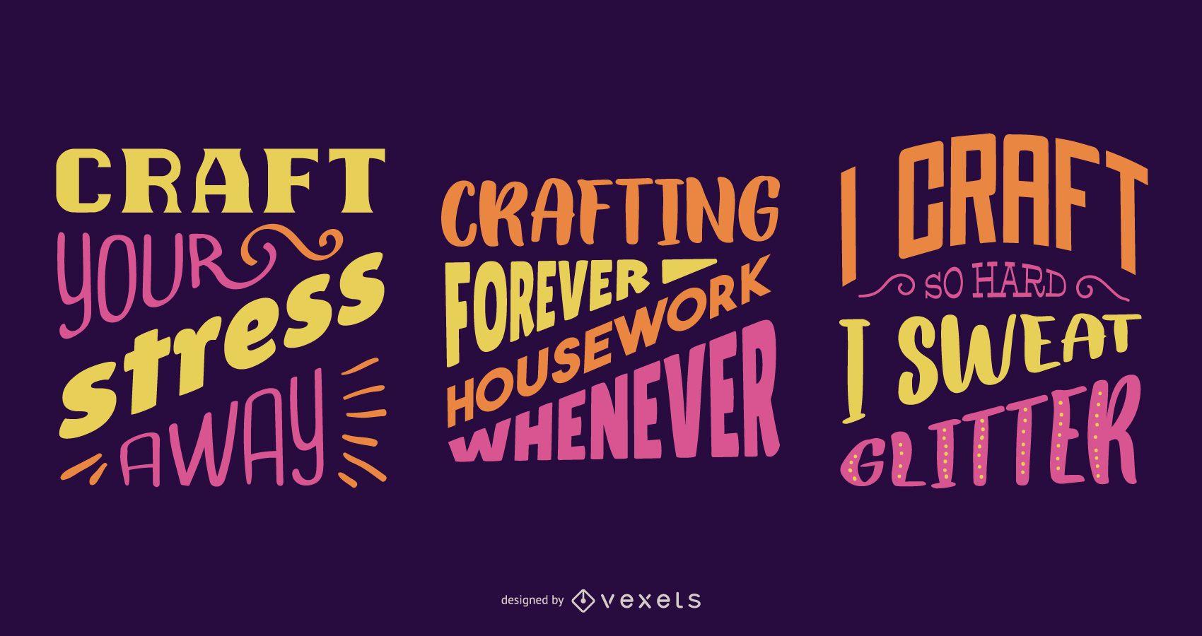 Crafting lettering set