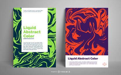 Plantilla de cartel abstracto líquido