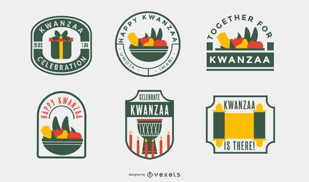 Kwanzaa badges pack
