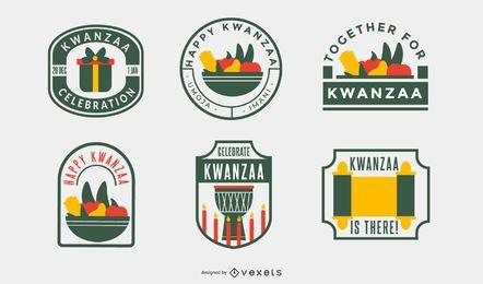 Kwanzaa badges pack