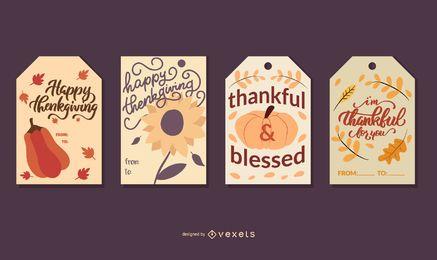 Thanksgiving-Kartenset