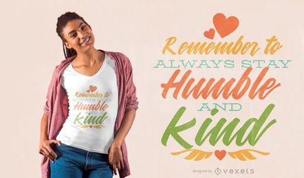 Freundlichkeit Zitat T-Shirt Design