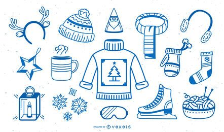 Winter elements stroke collection