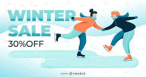 Slide editável de venda de inverno