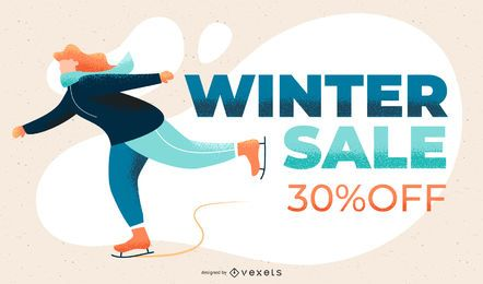 Winter sale slide template