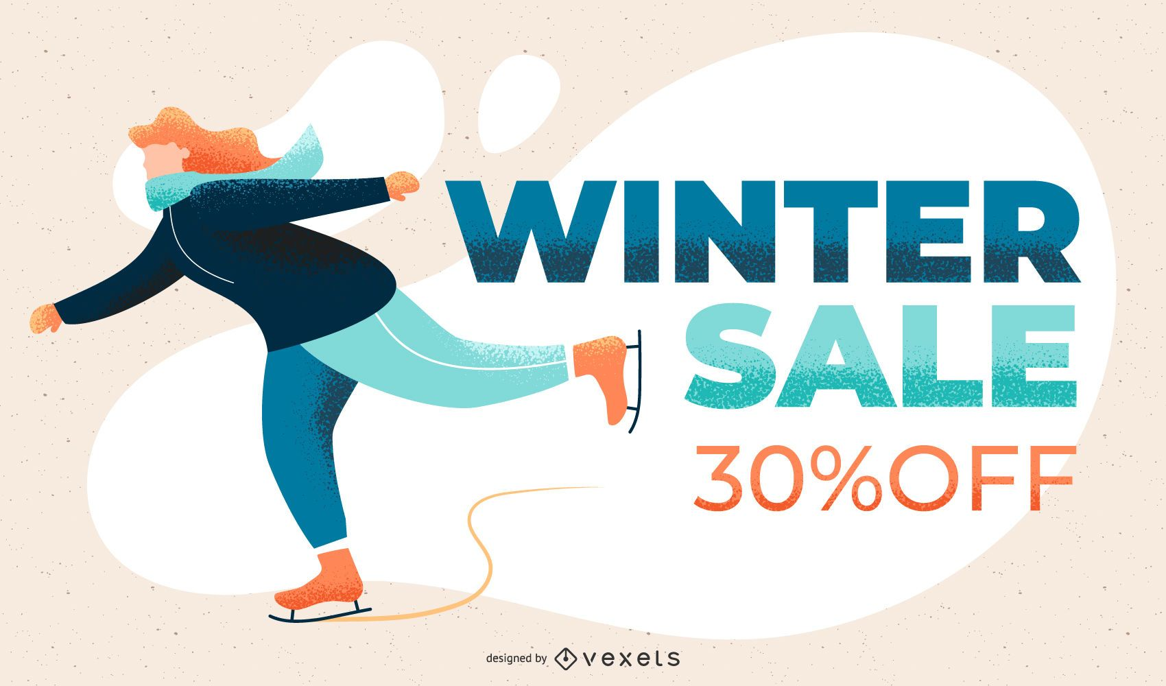 Winter sale slide template