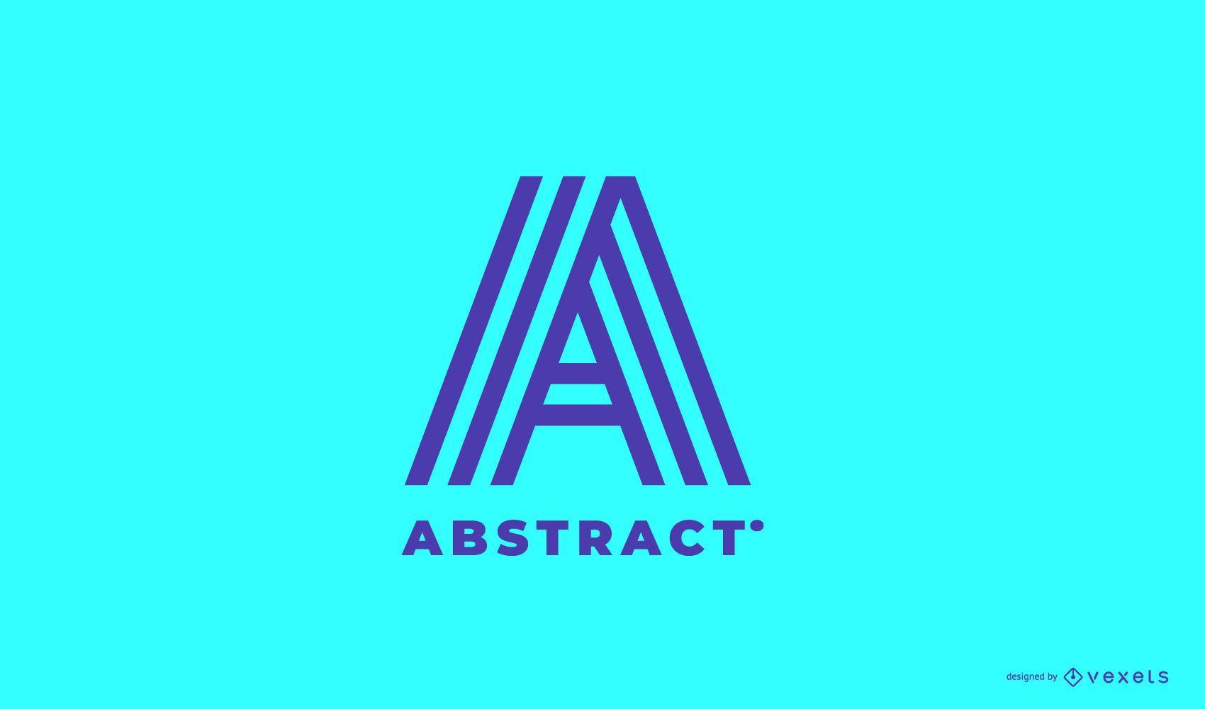 Design editável de logotipo abstrato