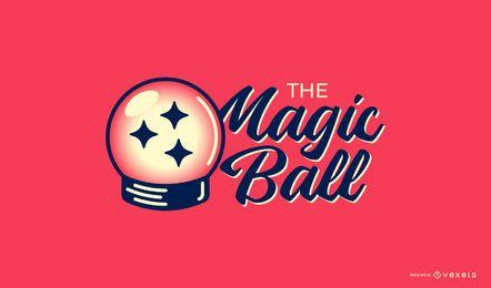 Modelo de logotipo de bola mágica